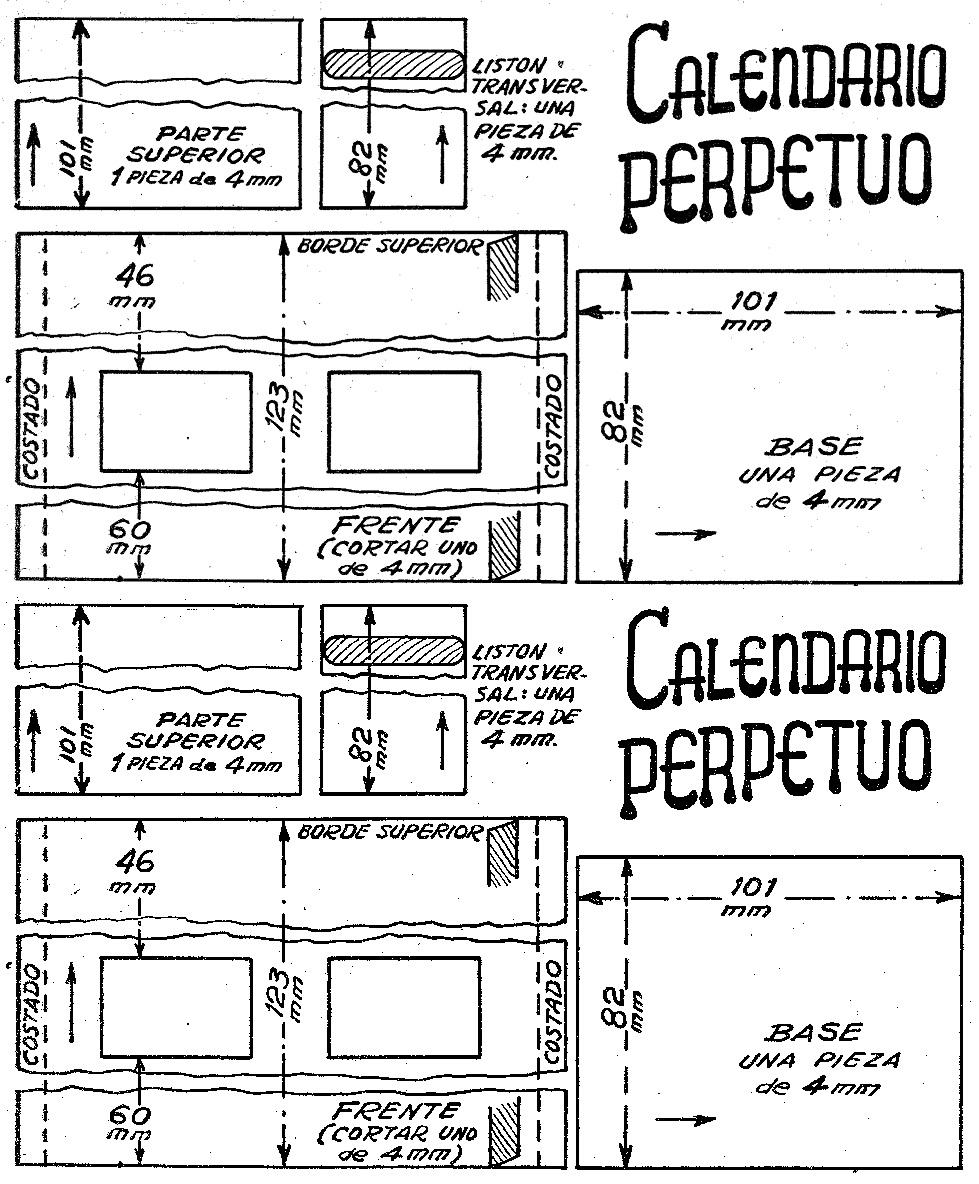 Como hacer un calendario perpetuo y personalizado como for Como hacer planos gratis