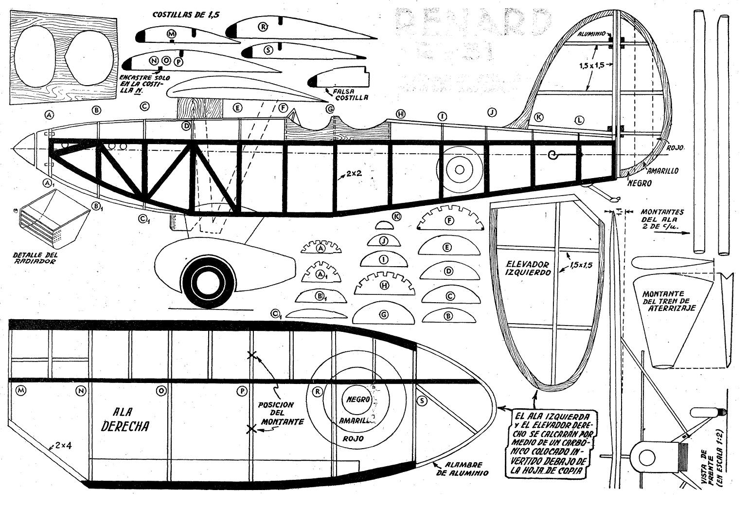 Aeromodelismo planos como hacer un avion renard r 31 for Planos para construir