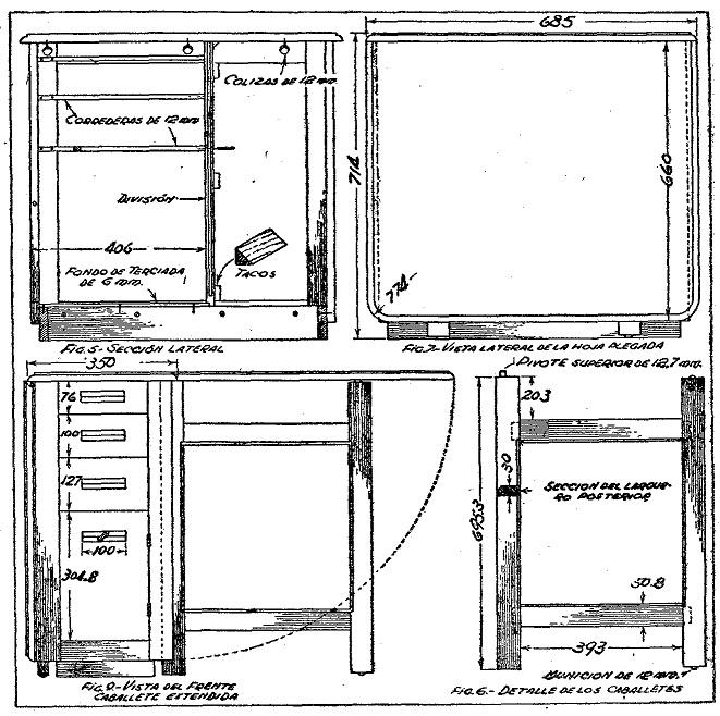 Dibujos de muebles de madera imagui for Planos de muebles de madera pdf