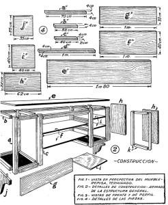 Como hacer la estanteria de cocina 2