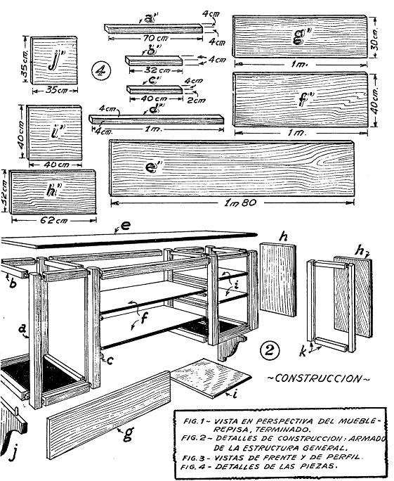 Como hacer la estanteria para la cocina como hacer for Hacer plano cocina