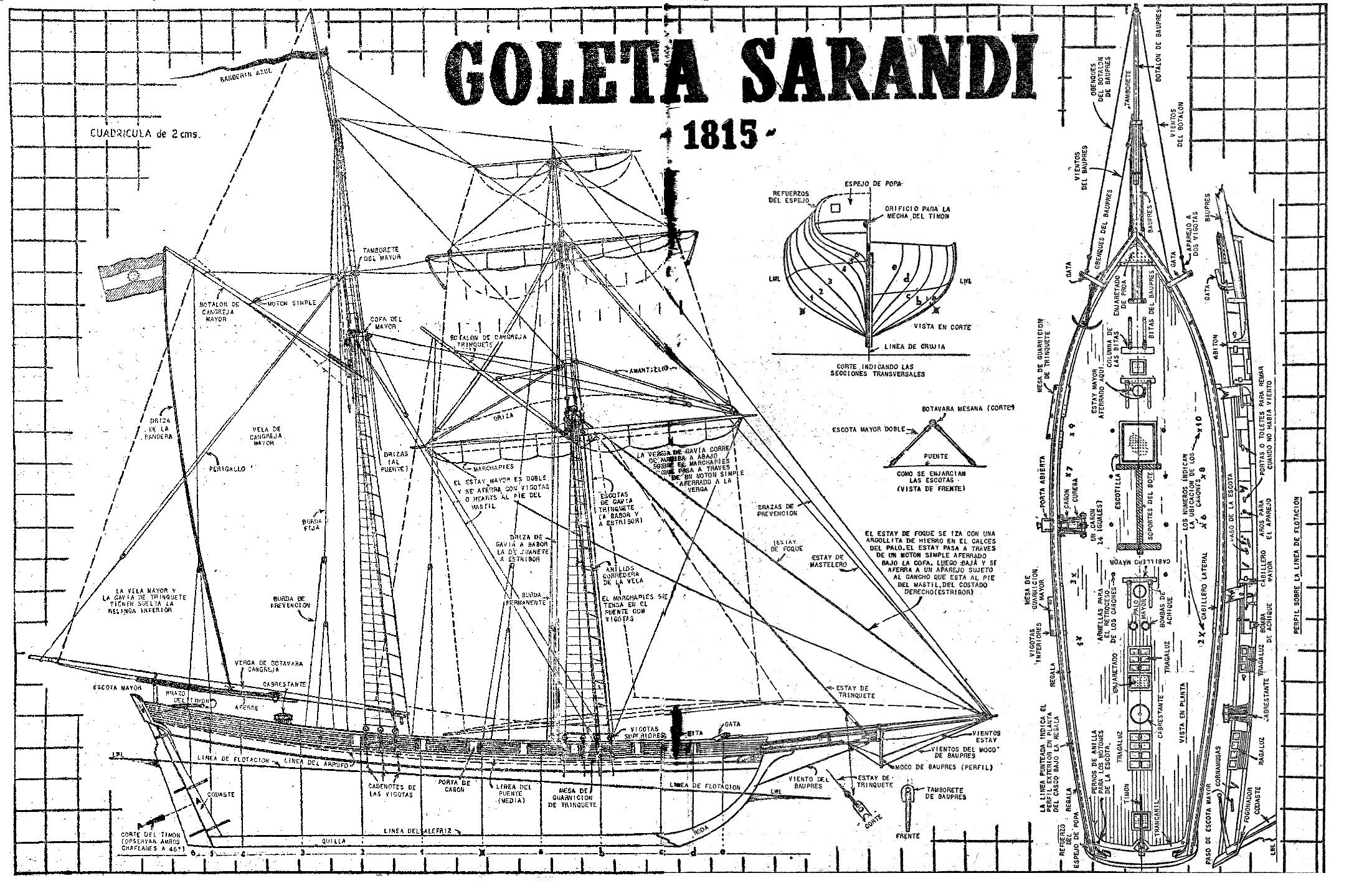 Como hacer un barco a escala la goleta sarand como for Hacer planos en linea