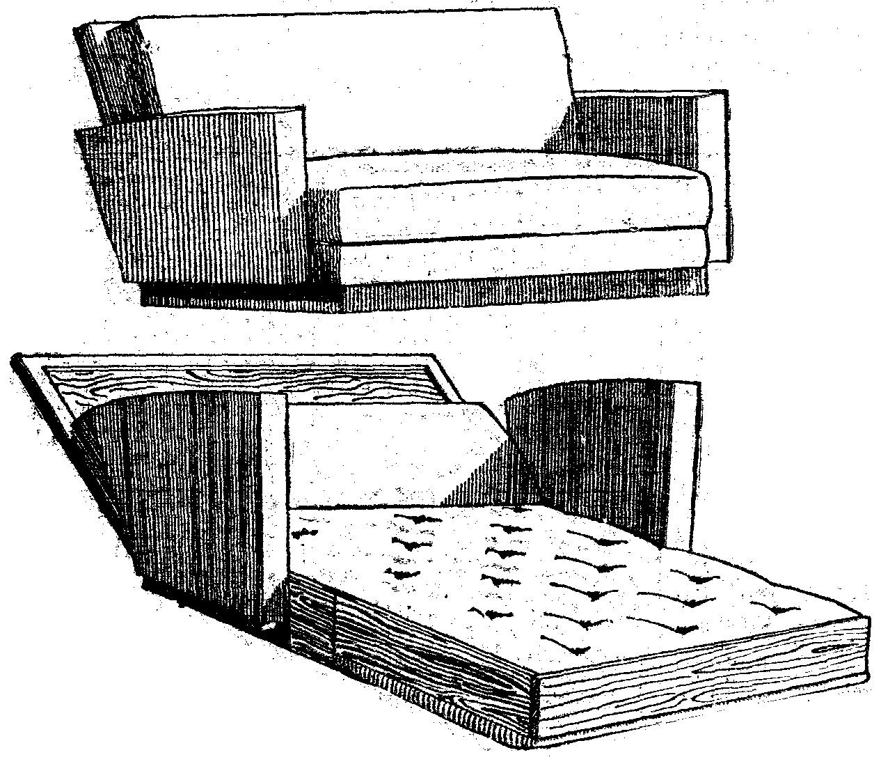 Fabricar un sofa cortaremos un trozo de espuma de alta for Como hacer un sillon con una cama