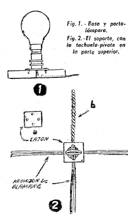 Como hacer una LAMPARA GIRATORIA