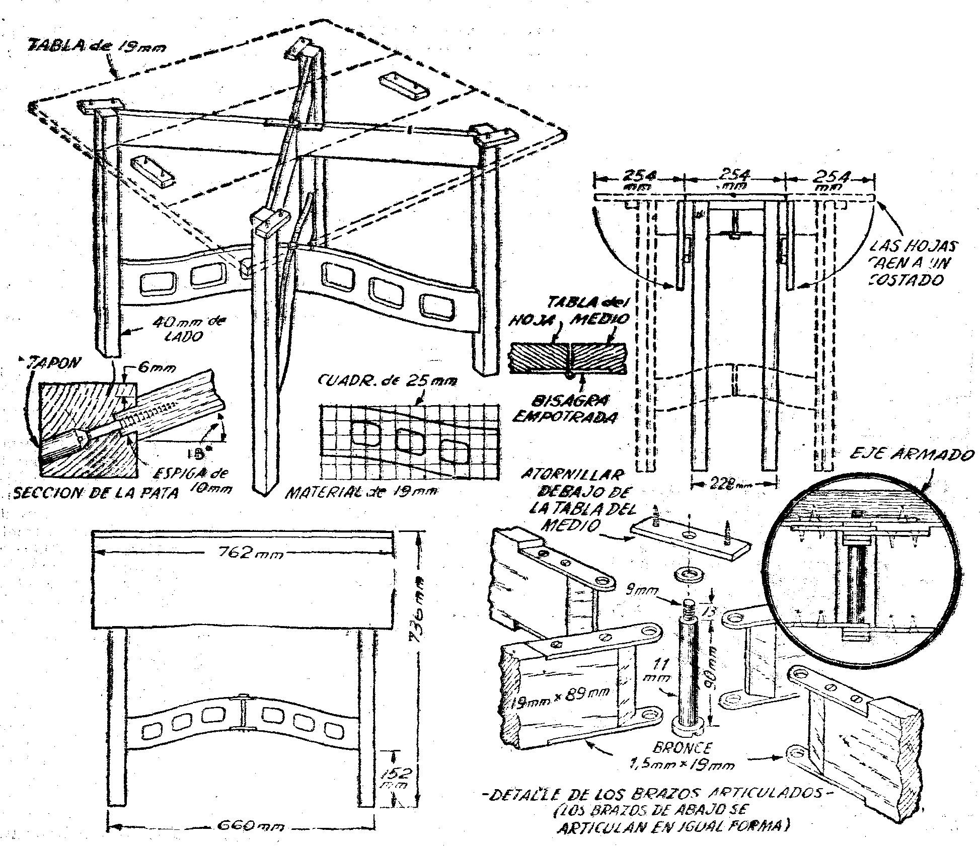 Como hacer una mesa plegable de madera paso a pictures - Hacer una cama de madera ...