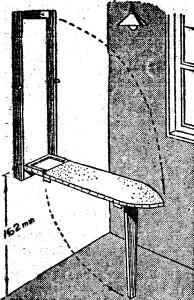 Como hacer una tabla de planchar o mesa de planchar como for Mesa planchar plegable