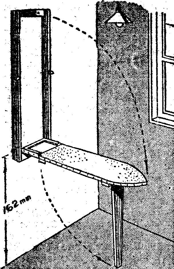 Como hacer una tabla de planchar o mesa de planchar como - Como hacer una mesa abatible ...