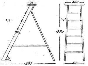 Escaleras de pintor de madera como hacer una escalera for Como hacer una escalera de cemento