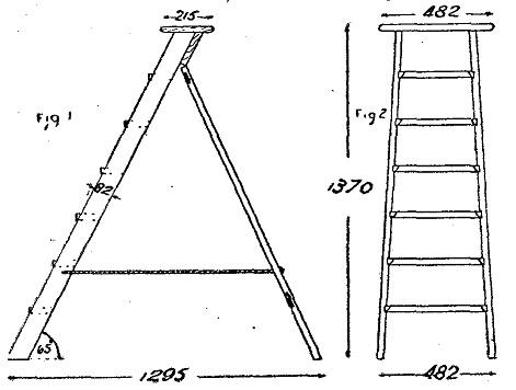 Escaleras de pintor de madera como hacer una escalera for Como trazar una escalera de madera