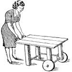 Mesas de madera – Como hacer una MESA RODANTE