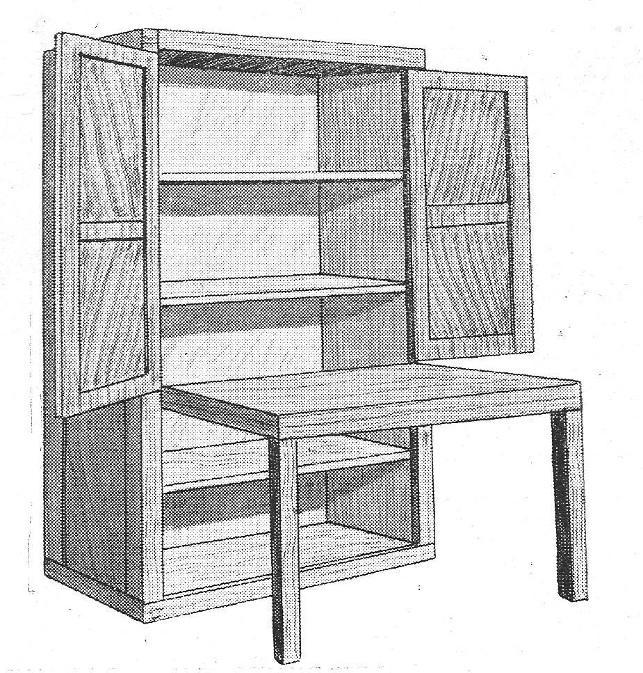Como hacer un armario y mesa de trabajo como hacer for Mesa plegable trabajo