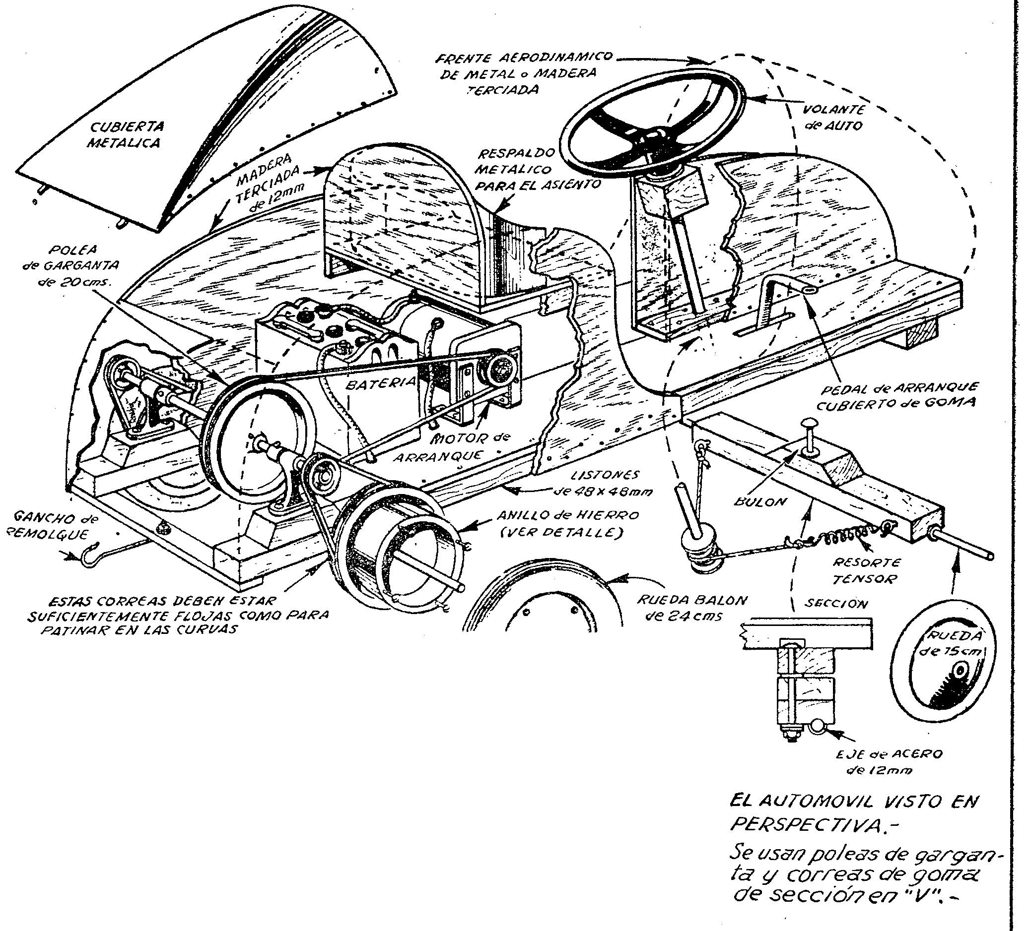 Como fabricar un carro electrico para niños