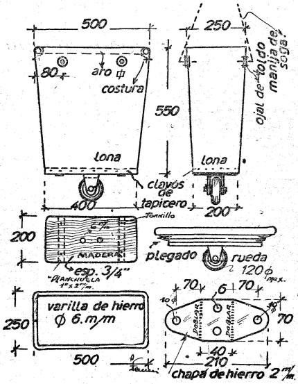 Como hacer bolsos - BOLSO CON RUEDAS