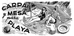 carpa y mesa de playa 1