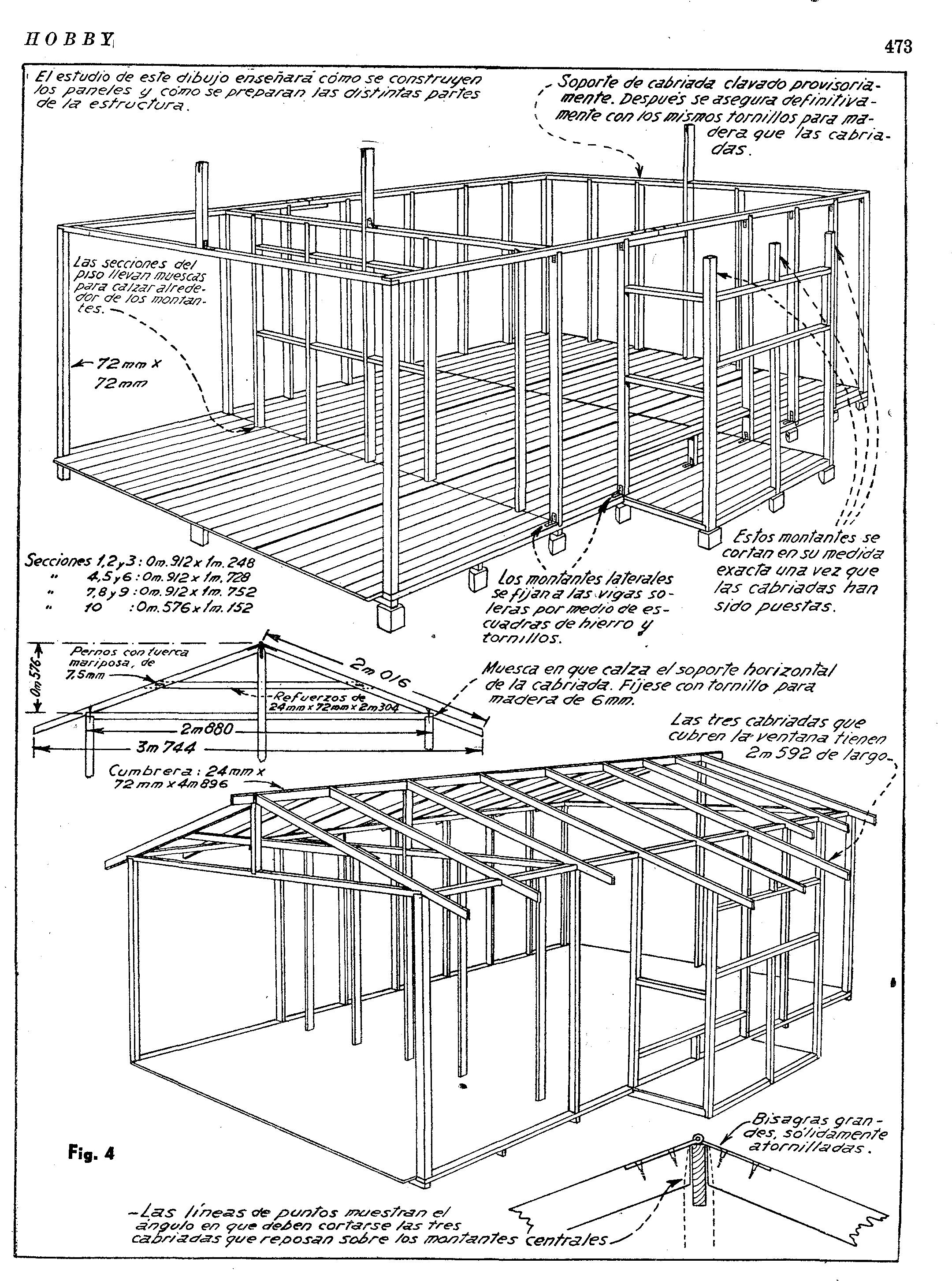 ... una casa de madera desarmable - planos de casas - como hacer una casa