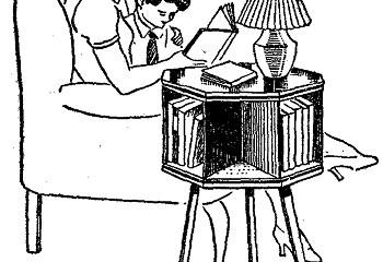 Como hacer una mesa de LECTURA con ESTANTE GIRATORIO 5