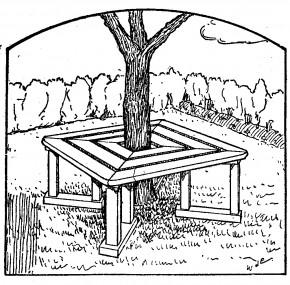 como hacer asiento para jardin-1