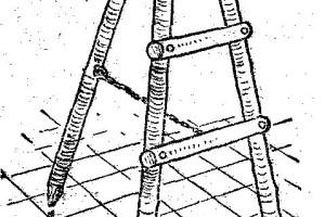 Como hacer una escalera de mano tipo tijera en madera