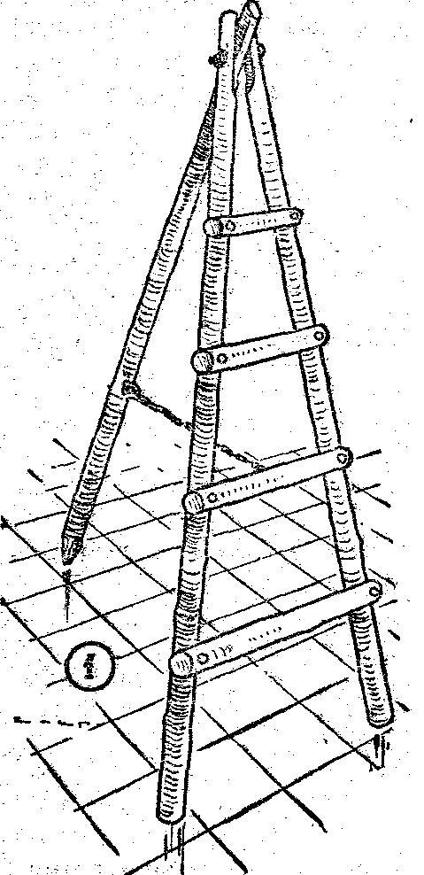 Como hacer una escalera de mano tipo tijera en madera for Como hacer escalones
