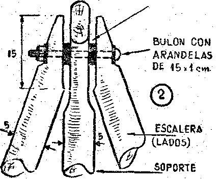 Como hacer una escalera plegable con ramas como hacer instrucciones y planos gratis - Como hacer una escalera plegable para altillo ...