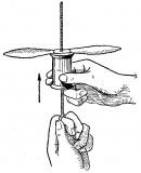 como hacer juguetes de madera helice voladora 1
