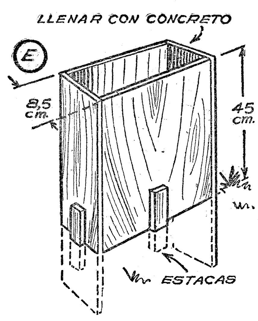 Como hacer un banco de concreto 6 como hacer - Como hacer cemento ...