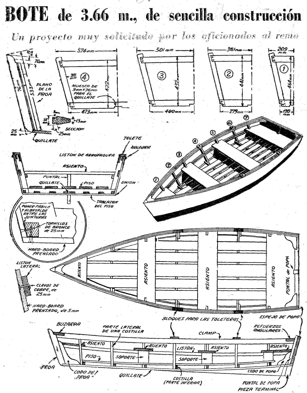 Como hacer un bote de remo 2 como hacer instrucciones for Como hacer planos gratis