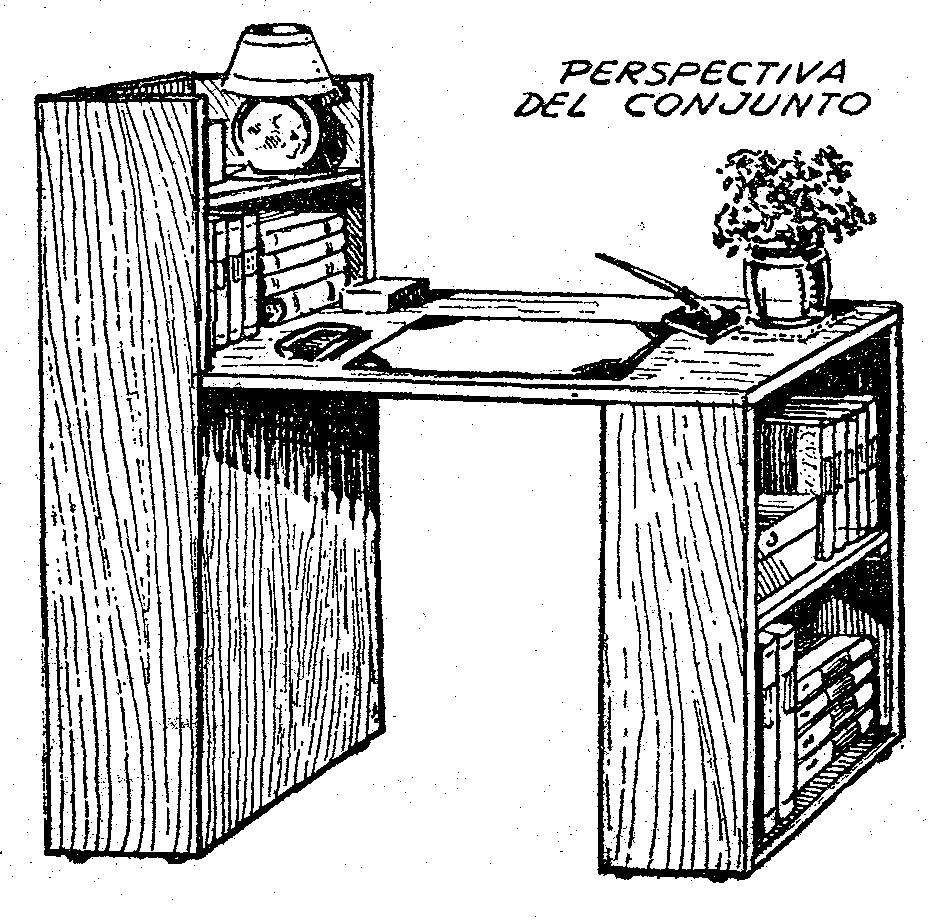 Como hacer un escritorio de madera como hacer for Planos de escritorios