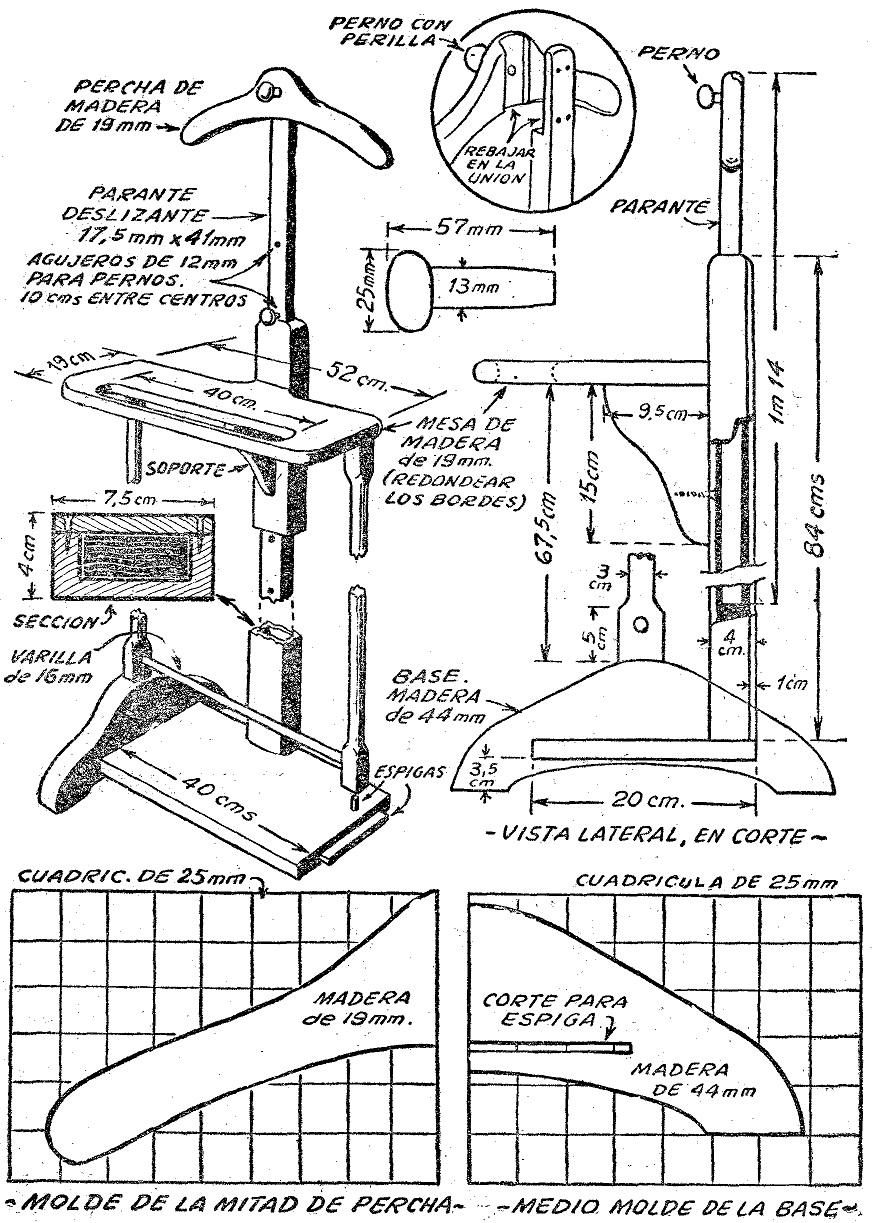 Como hacer un perchero 2 como hacer instrucciones y Planos de gabinetes de cocina gratis