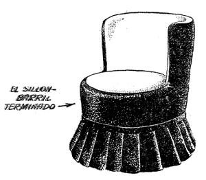 Como hacer un SILLON de un TONEL, BARRICA o BARRIL de madera 2