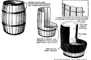 Como hacer un SILLON de un TONEL, BARRICA o BARRIL de madera 4