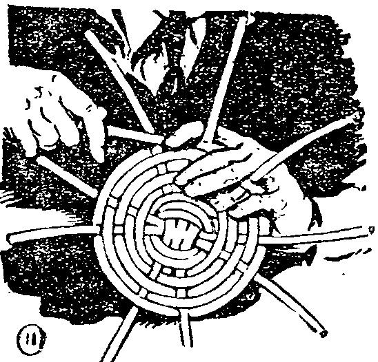 Canastas y bandejas reciclado imagui - Como forrar una cesta de mimbre ...