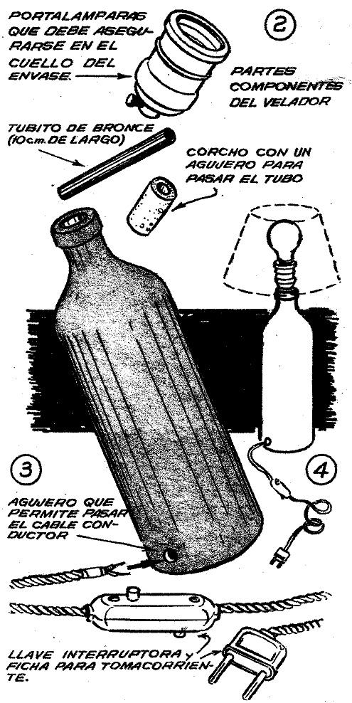 Como hacer un velador de botellas de plastico home - Como hacer lamparas ...