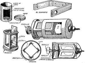 como hacer una lampara rotativa para laboratorio