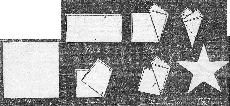 estrella de papel de 5 puntas