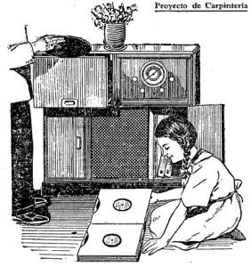 gabinete para radio y tocadiscos 1