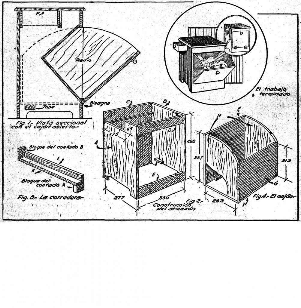 como hacer una gaveta de madera para baño
