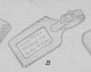 porta tarjeta para equipaje