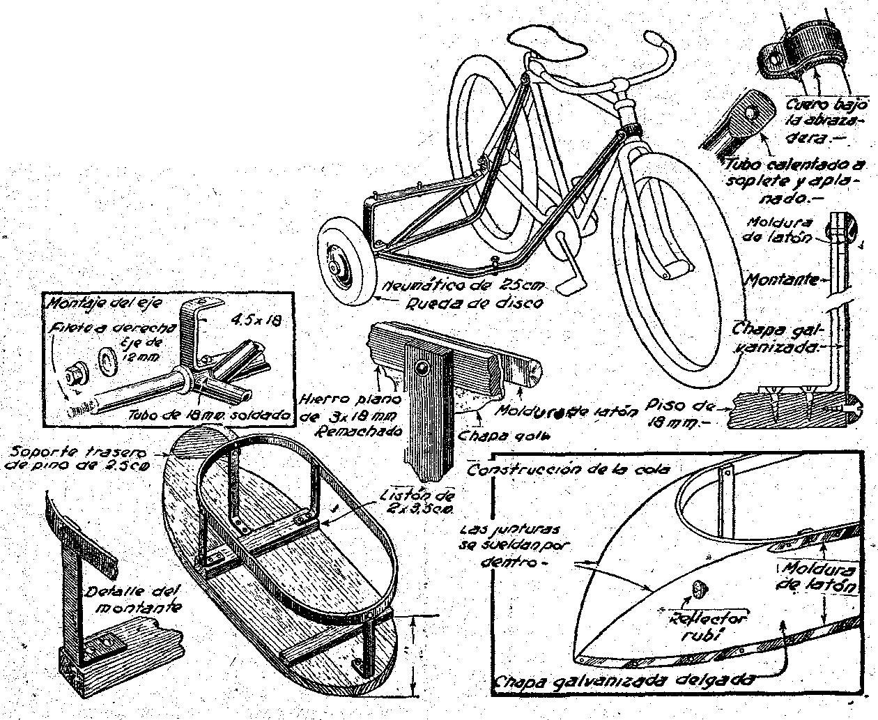 Para bicicleta como hacer con manuales planos y picture to for Como construir un kiosco en madera