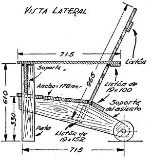 Como hacer un sillon con ruedas para el jard n como for Planos de sillones