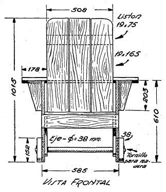 Como hacer un sillon con ruedas para el jard n como - Como hacer un sillon de madera ...