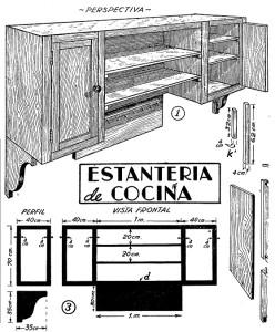 Como hacer la estanteria de cocina 1