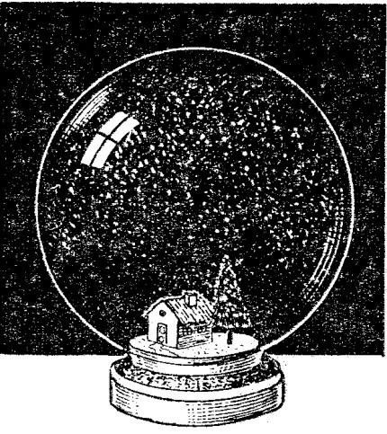 Como hacer una bola de cristal con nieve adentro