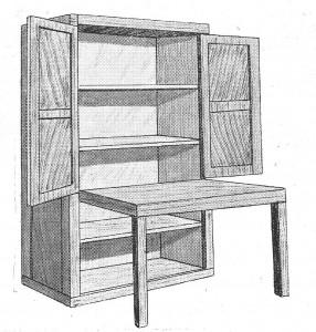como hacer un armario y mesa de trabajo