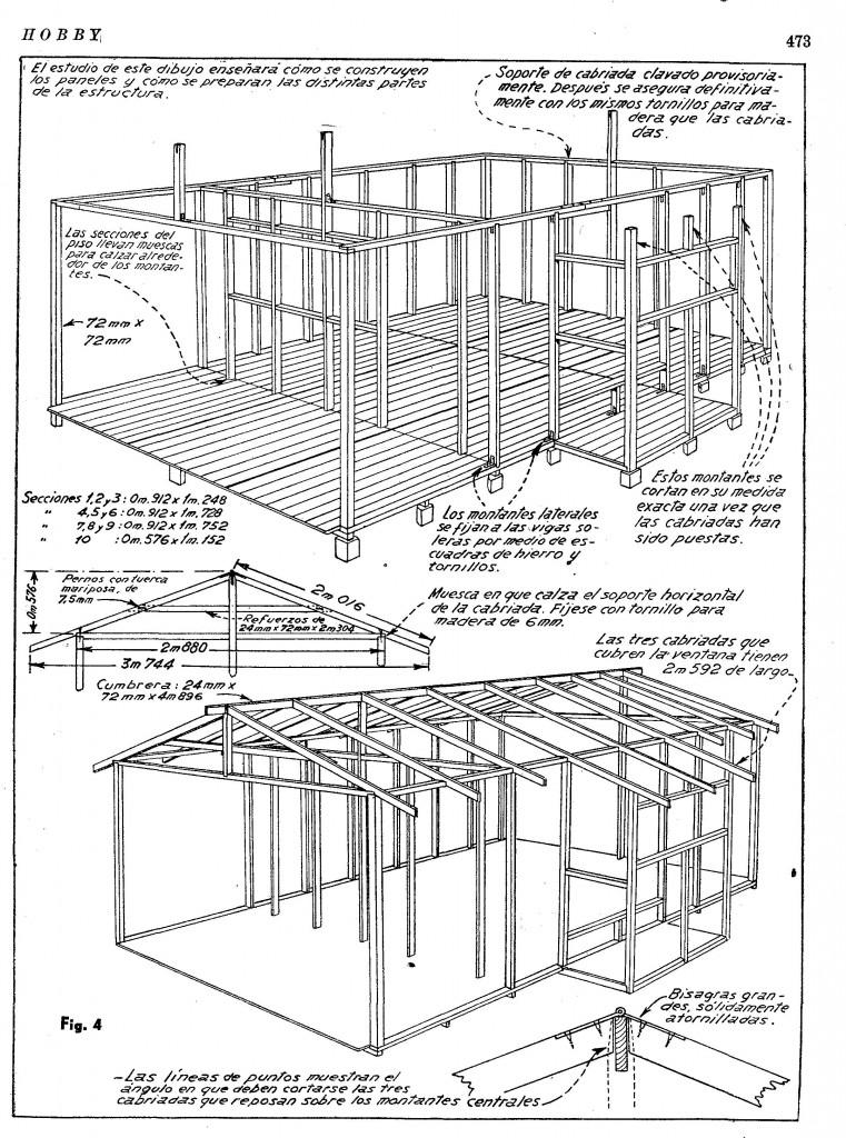 como hacer una casa de madera desarmable - planos de casas - como hacer una casa