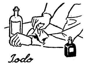 como eliminar las manchas  - yodo