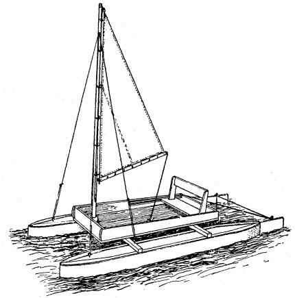Velero - como hacer un velero o prao tipo catamaran o triamaran