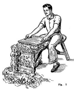 construccion de una cardadora de lana 1