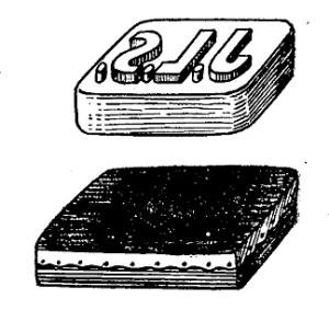 sello de goma y almohadilla