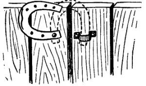 una herradura como cerradura
